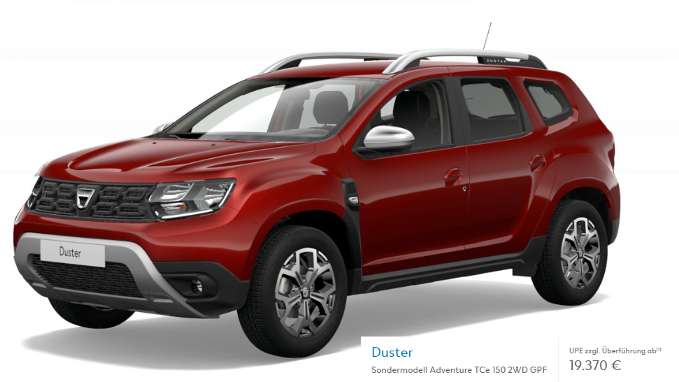 dacia duster als adventure sondermodell verf gbar. Black Bedroom Furniture Sets. Home Design Ideas